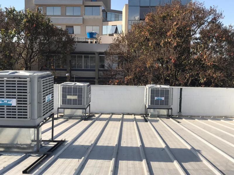 Climatização evaporativa industrial